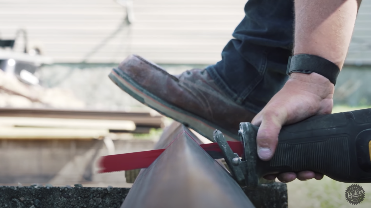 man using a tool