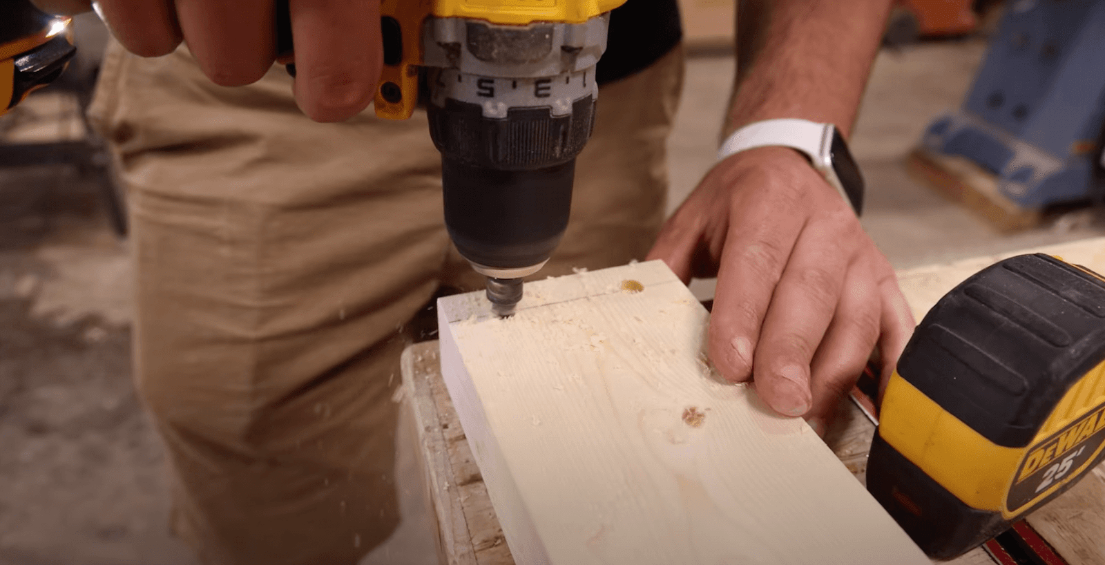 drilling into wood