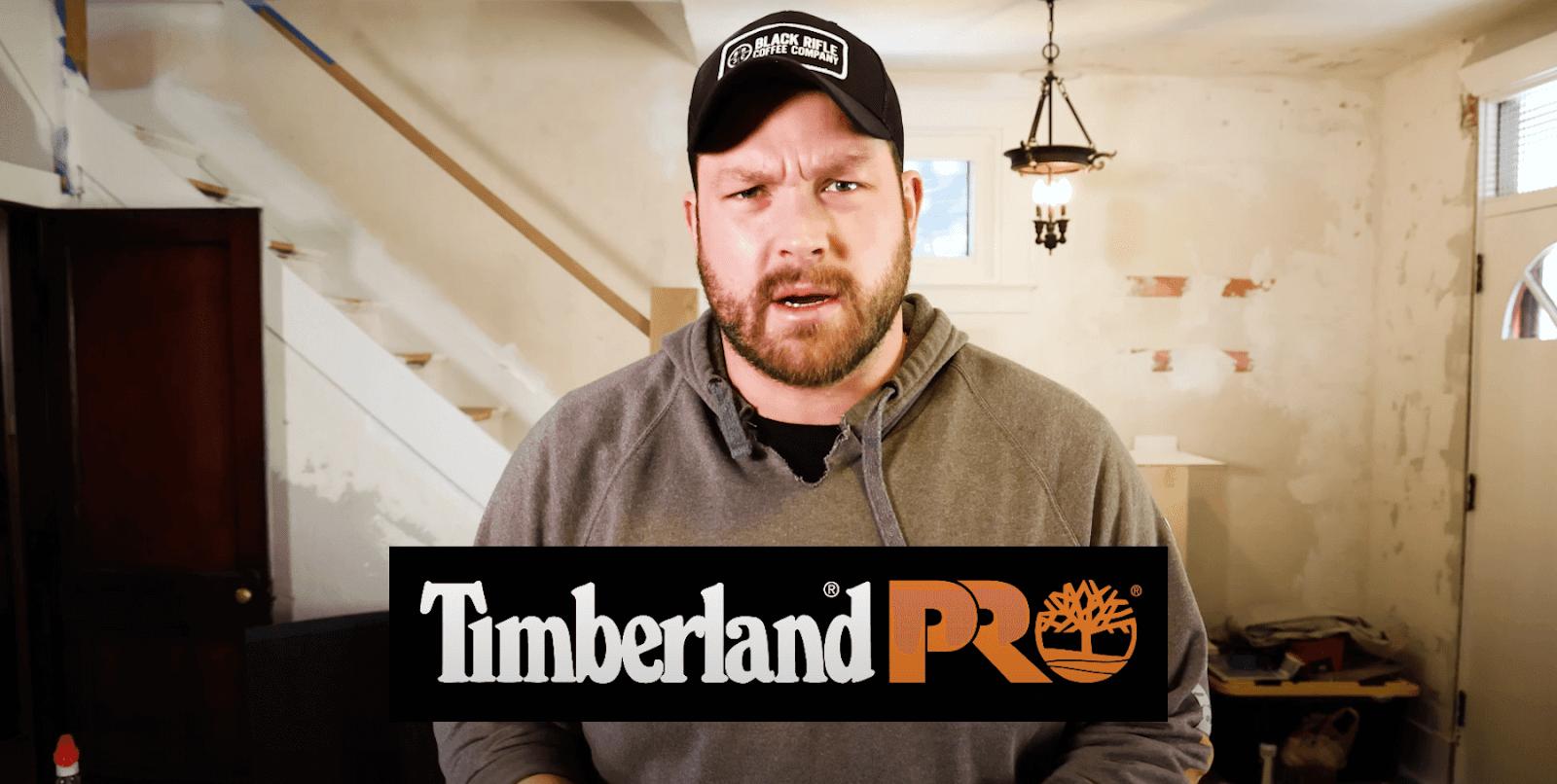 John Malecki promoting Timberland PRO