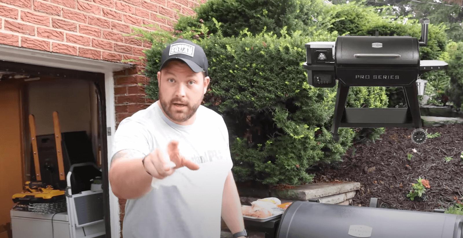John Malecki and Pit Boss grill