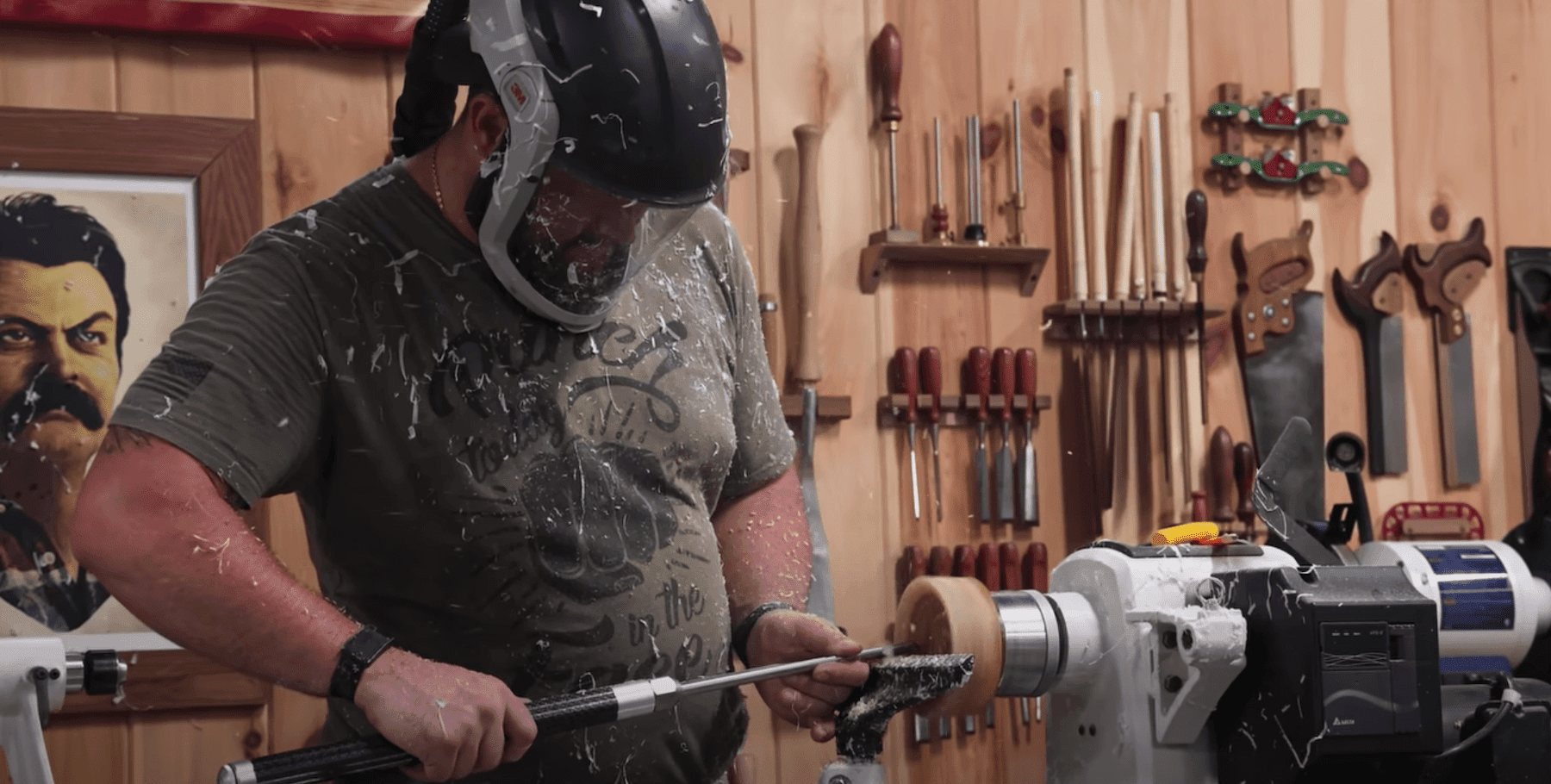 John Malecki creating a bowl shape