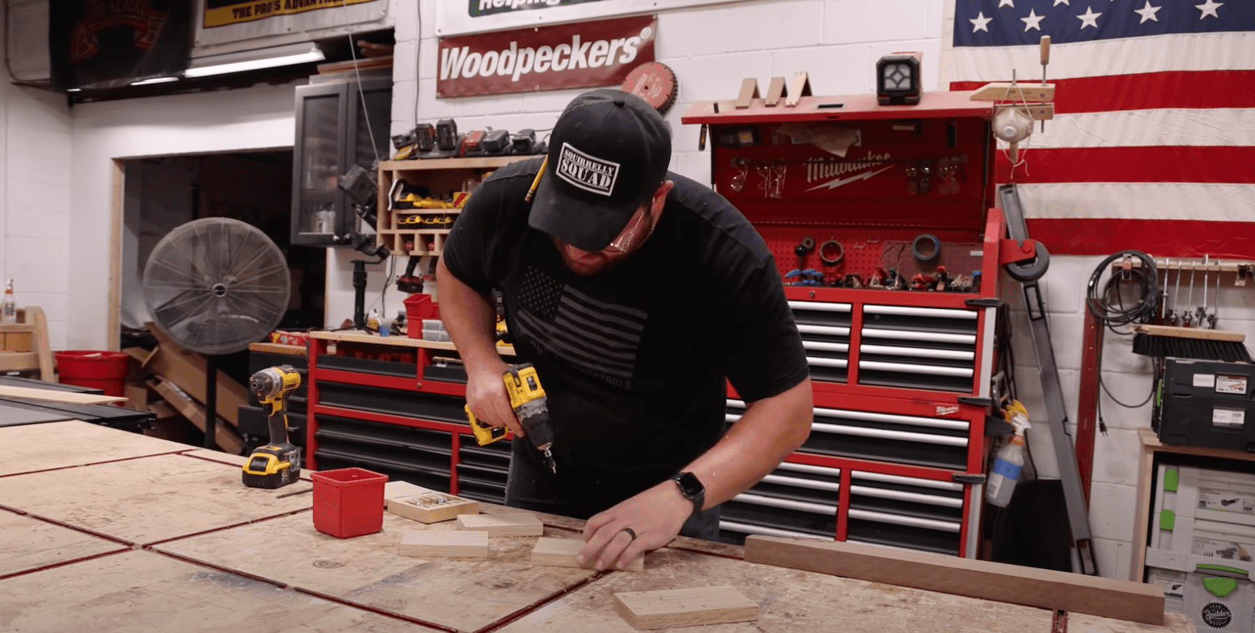 John Malecki drilling wood