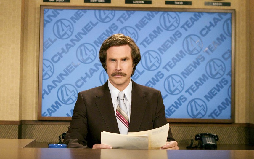 Anchorman delivers the news