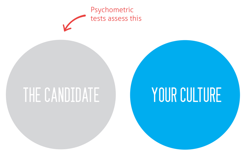 Psychometric tests assess the candidate
