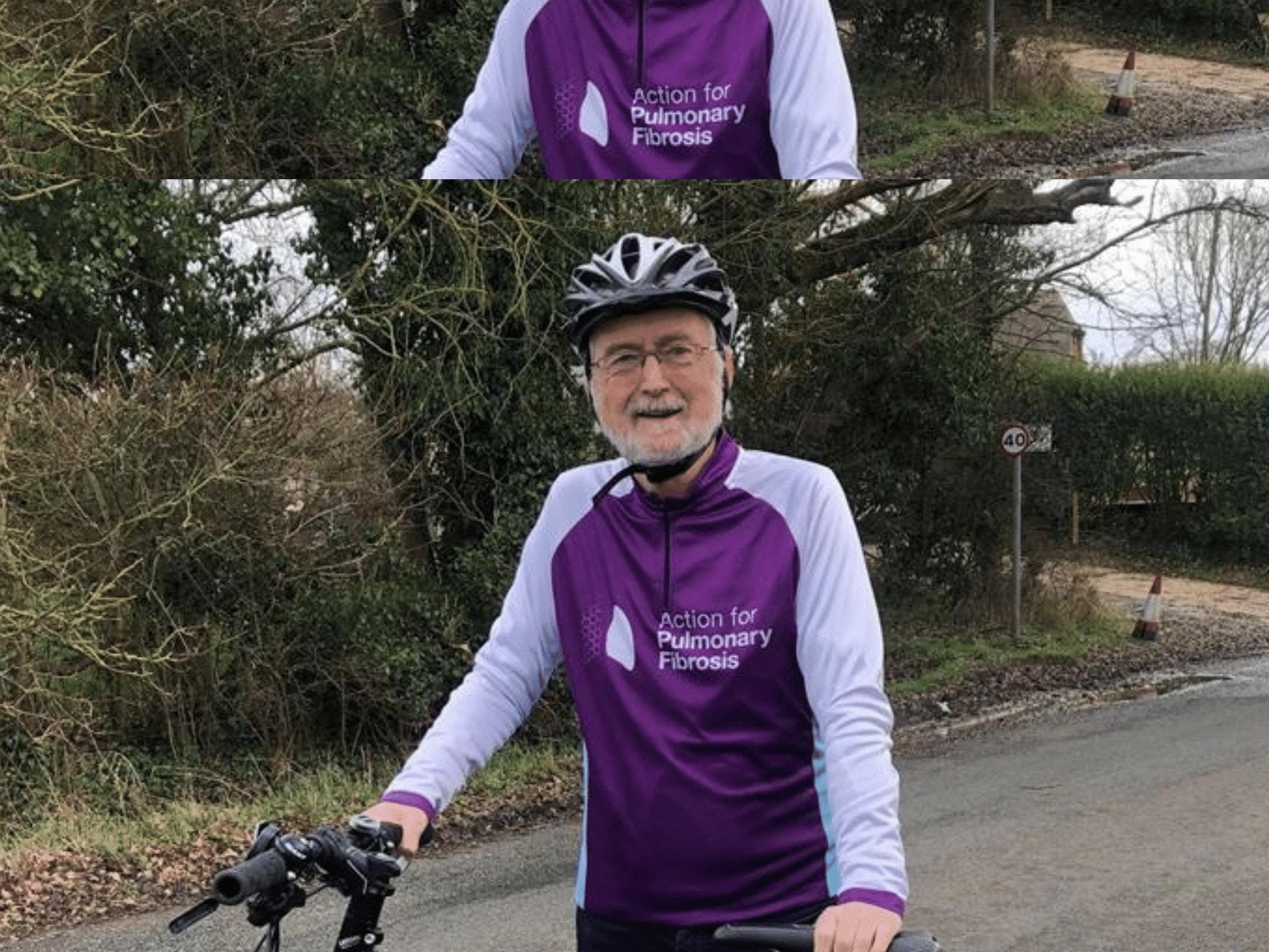 Steve Jones with his bicycle