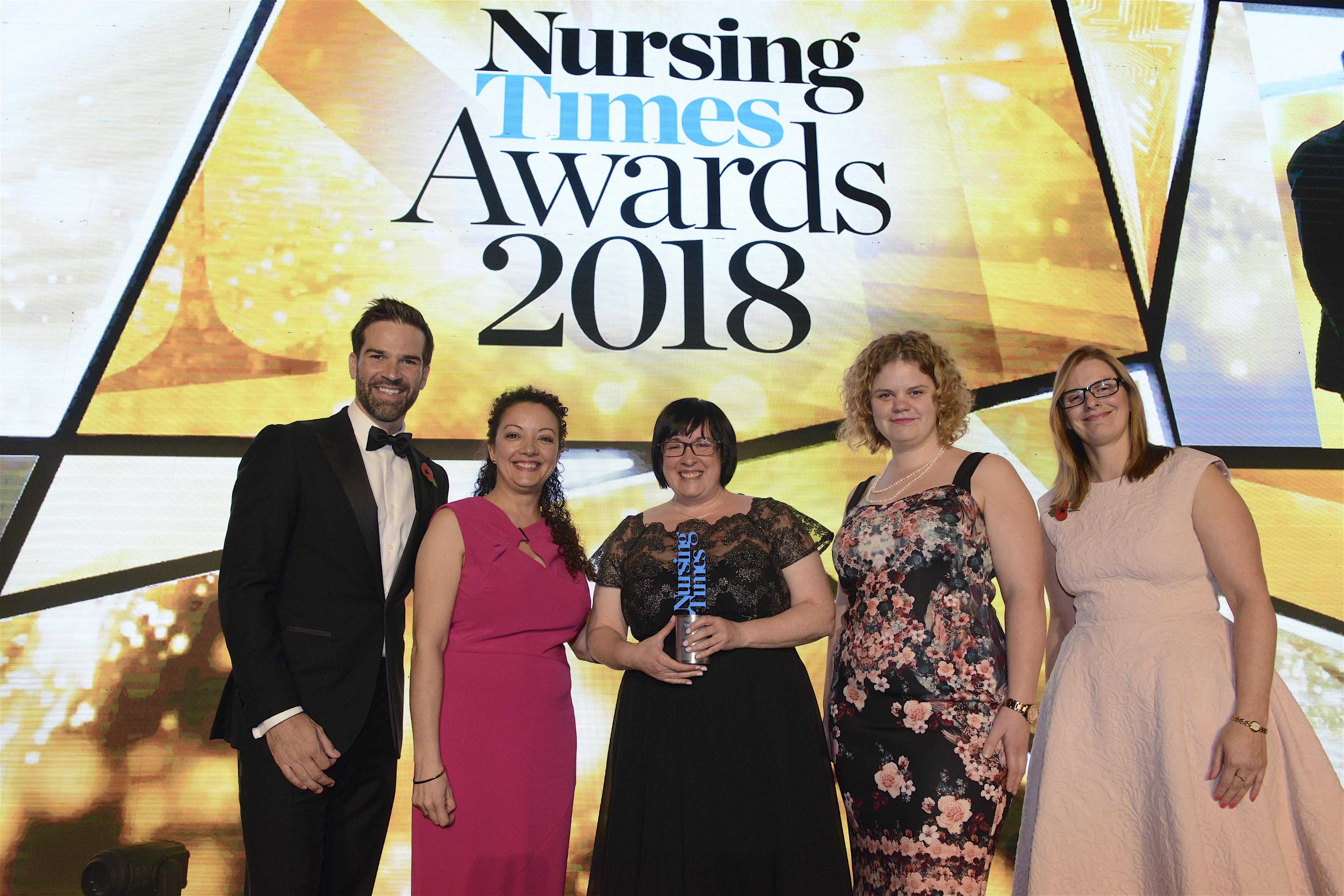 Winners of the Nursing Times Awards 2018