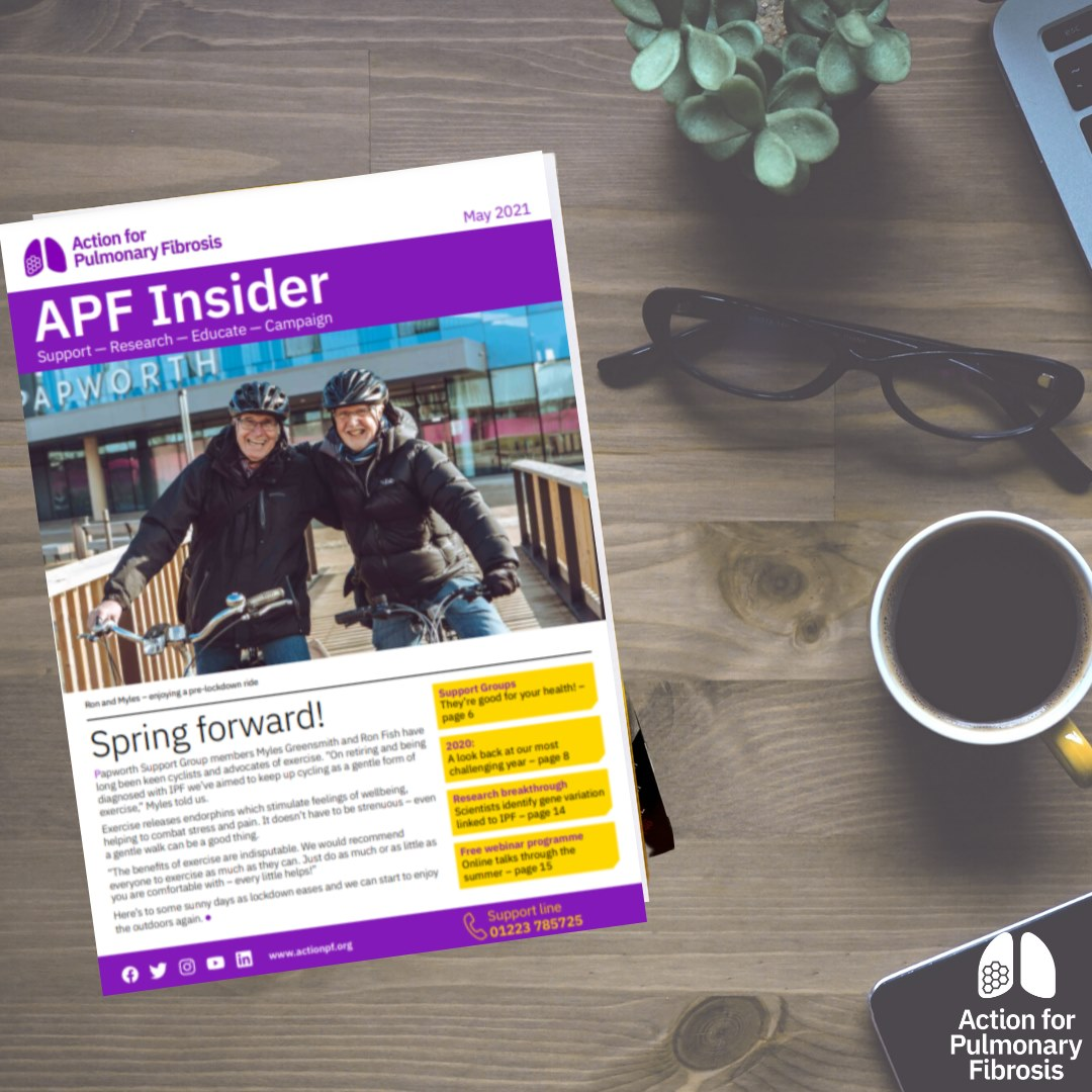 APF insider magazine with a cup of coffee on the table