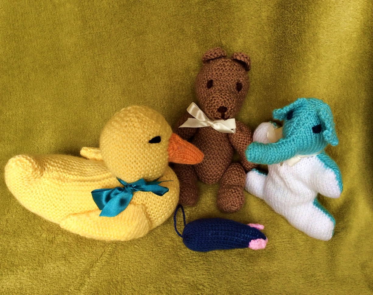 SALE! Knitted animals - traditional toys your children will love