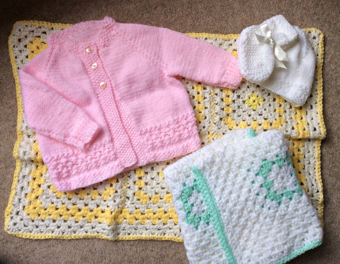 Knitted baby layette - absolutely gorgeous gift for an infant