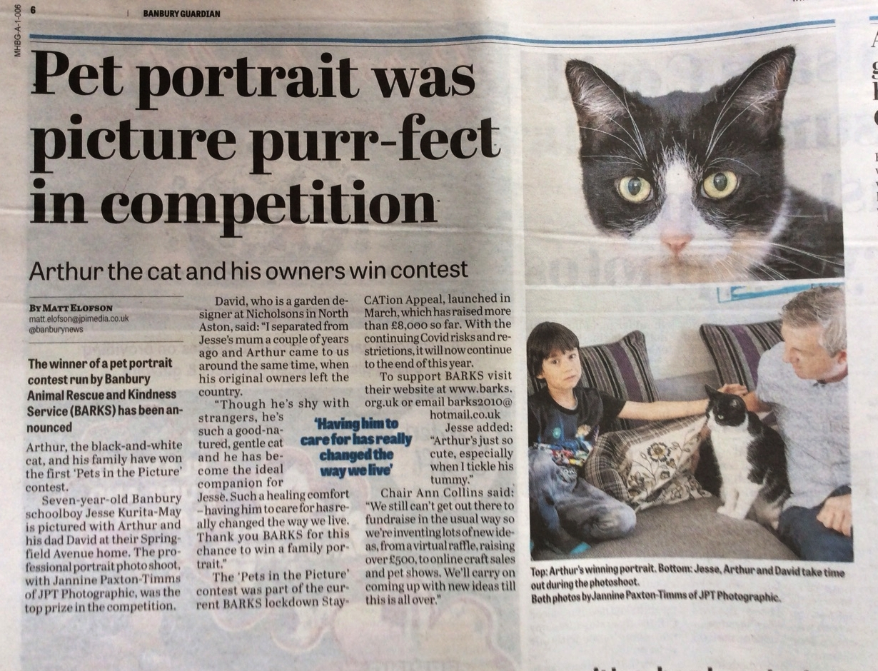 Picture purr-fect finish for Arthur, Jesse and David