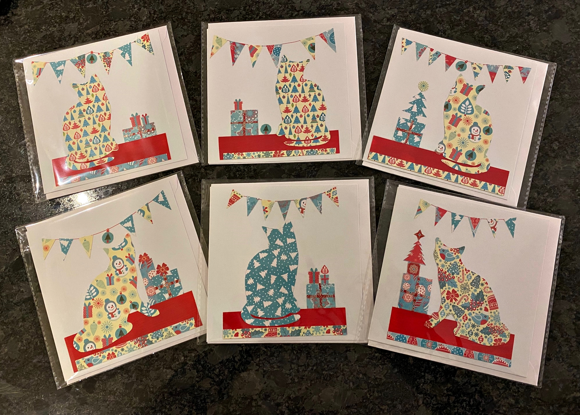 Santa Claws handmade Christmas cards - ideal for that special cat-lover in your life!