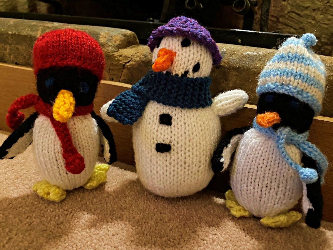 SALE! Winter trio are wrapped up for the snow... please take them in from the cold!