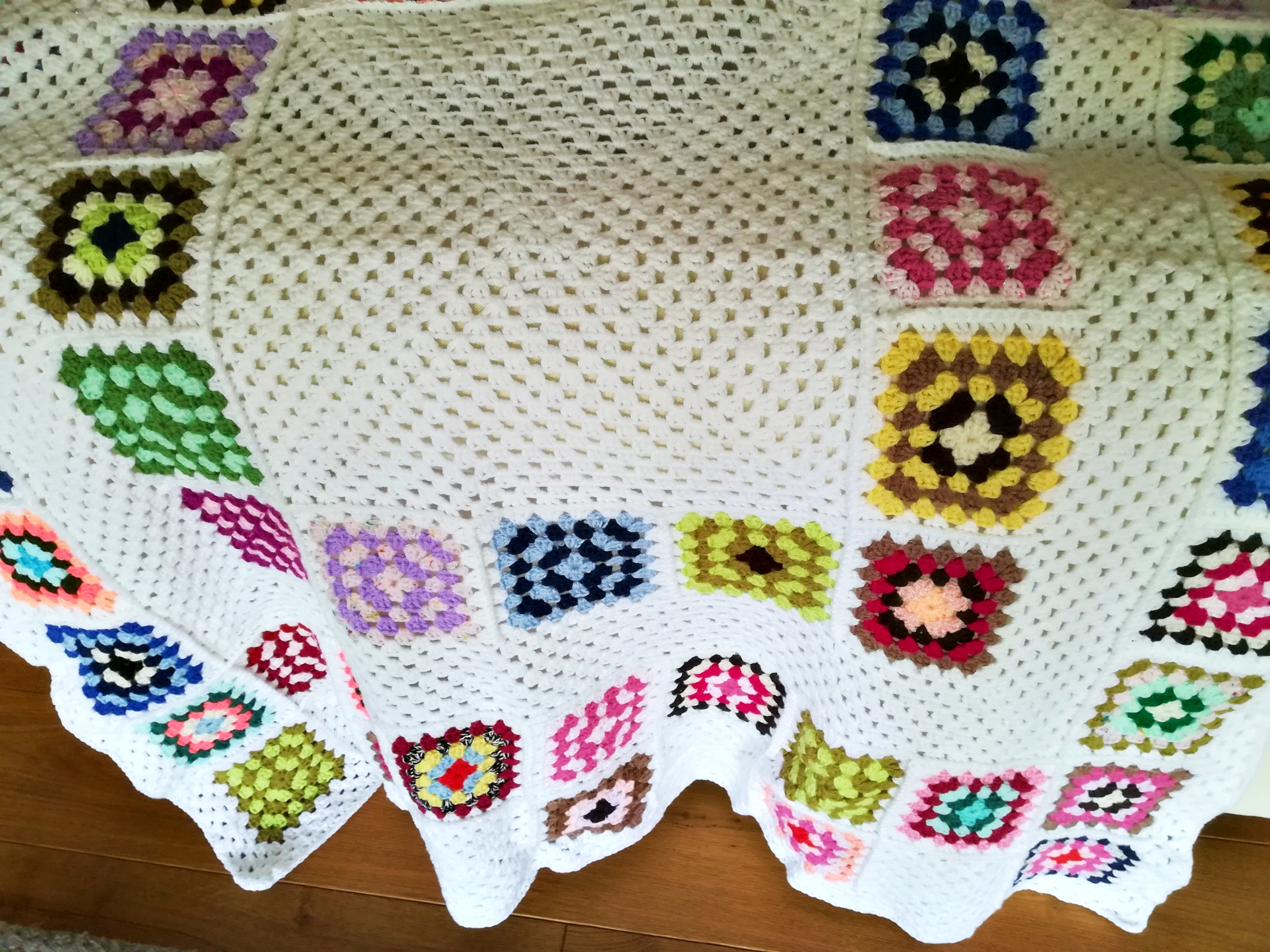 Gorgeous crocheted throw - to brighten any room