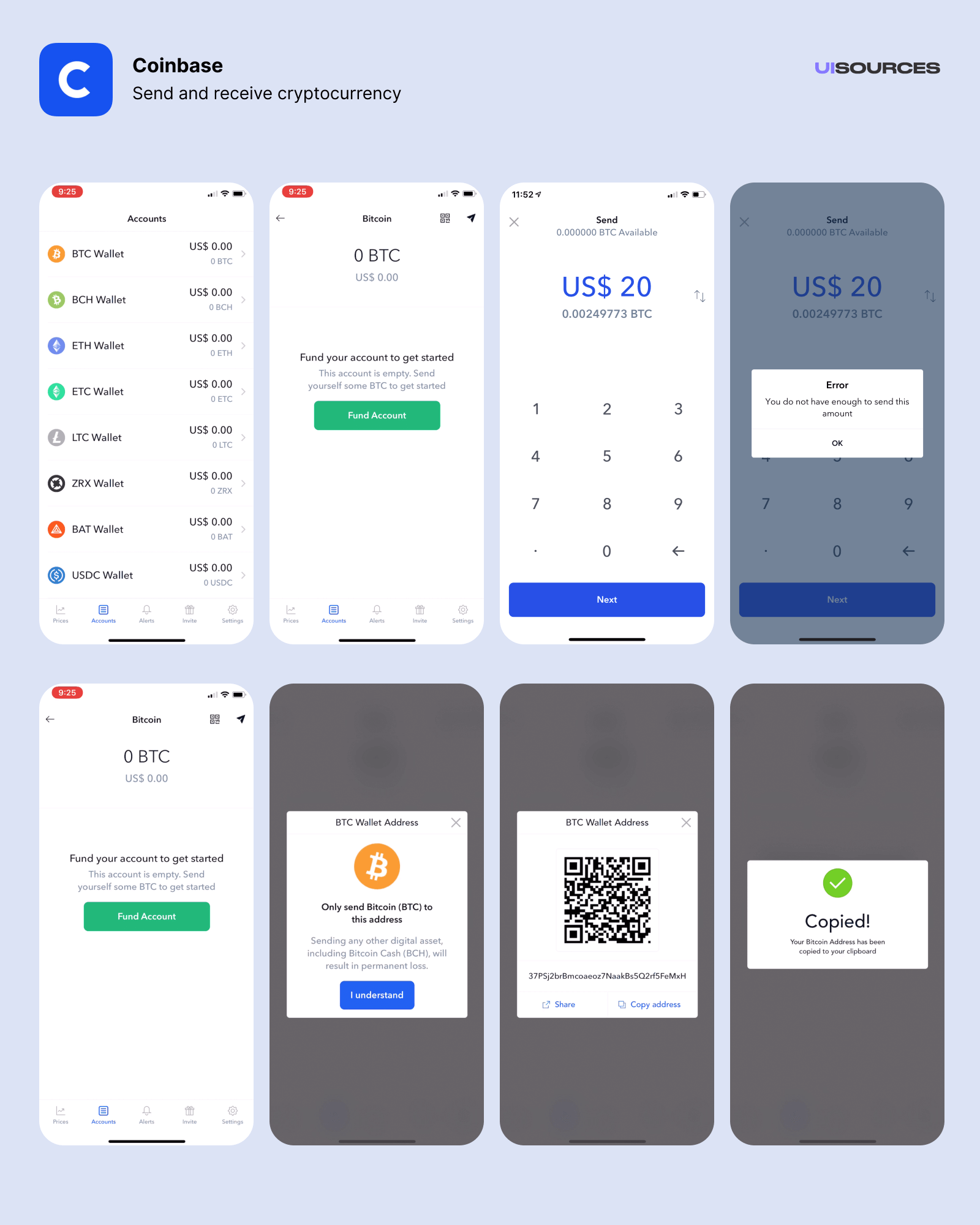 Send and receive cryptocurrency