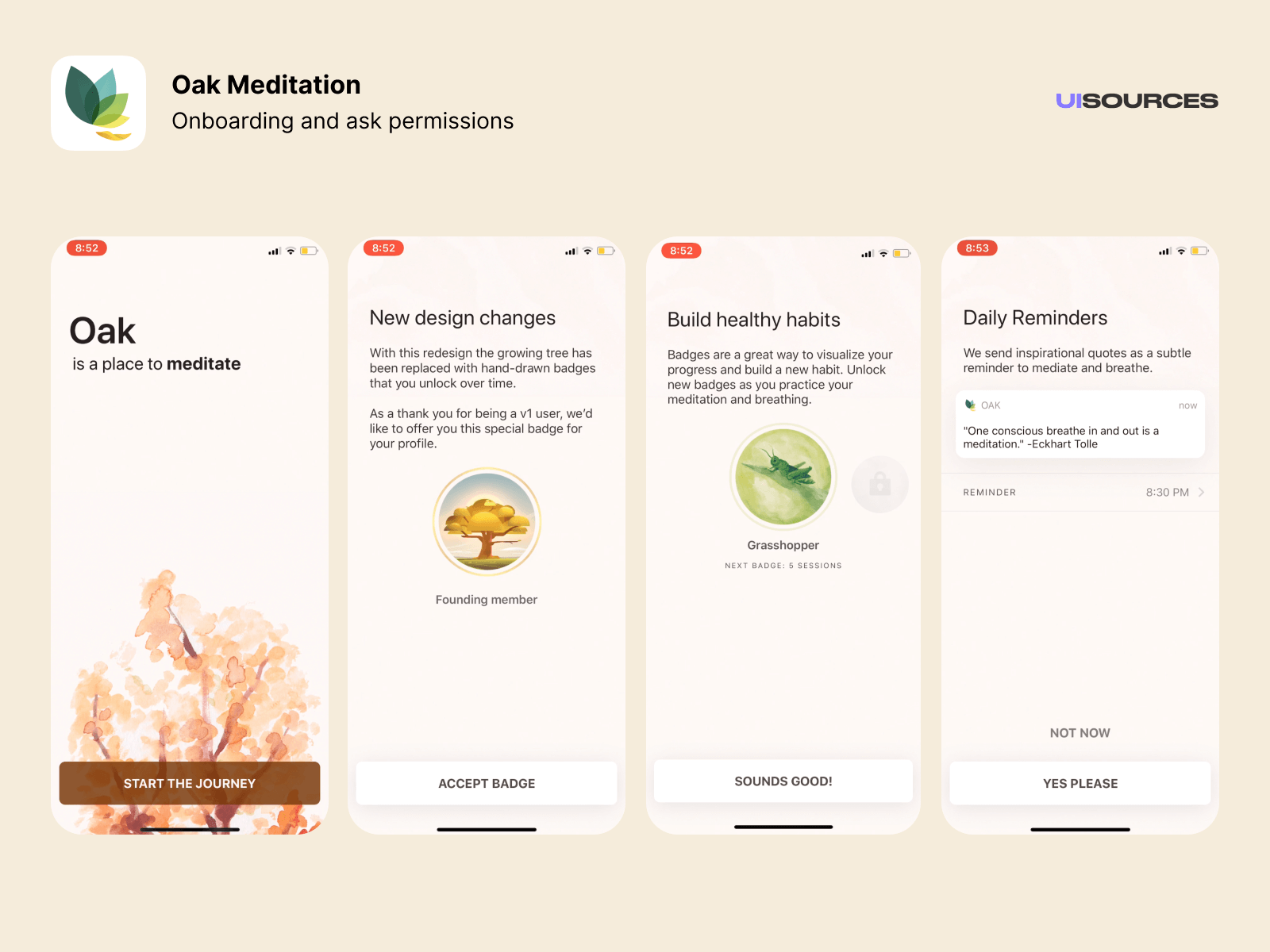 Onboarding and asking for notification permissions