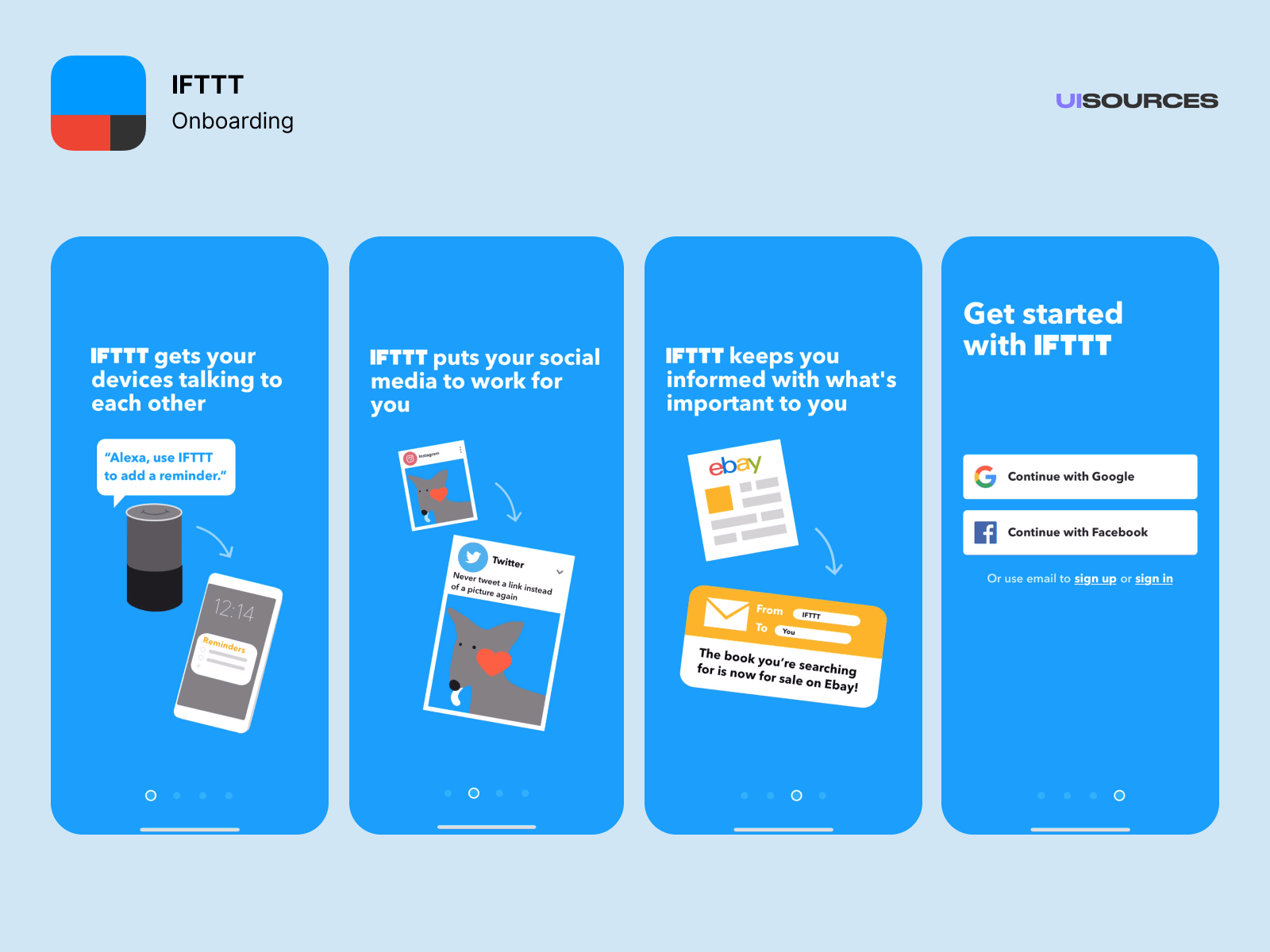 Onboarding and login