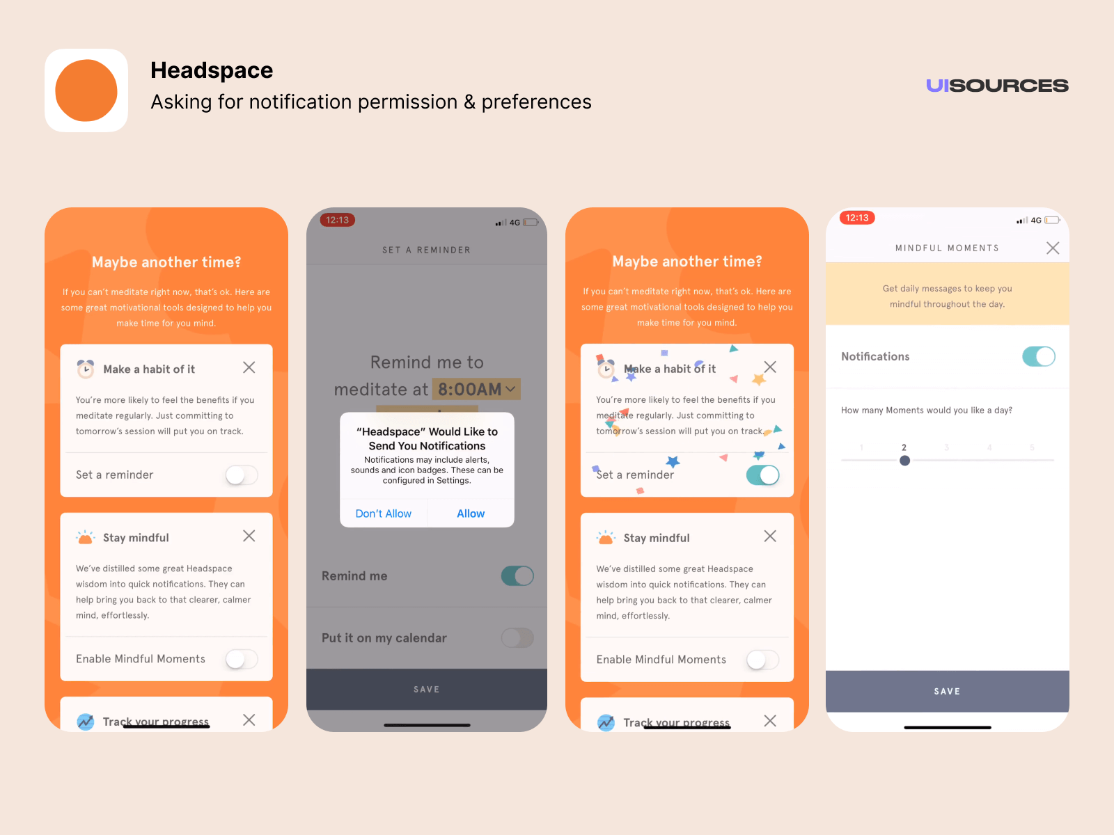 Asking for notification permissions and preferences
