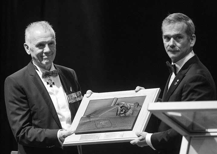 Michel Maisonneuve and Canadian Astronaut Chris Hadfield