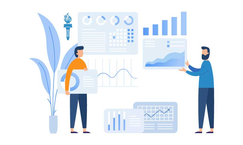 Data and research illustration