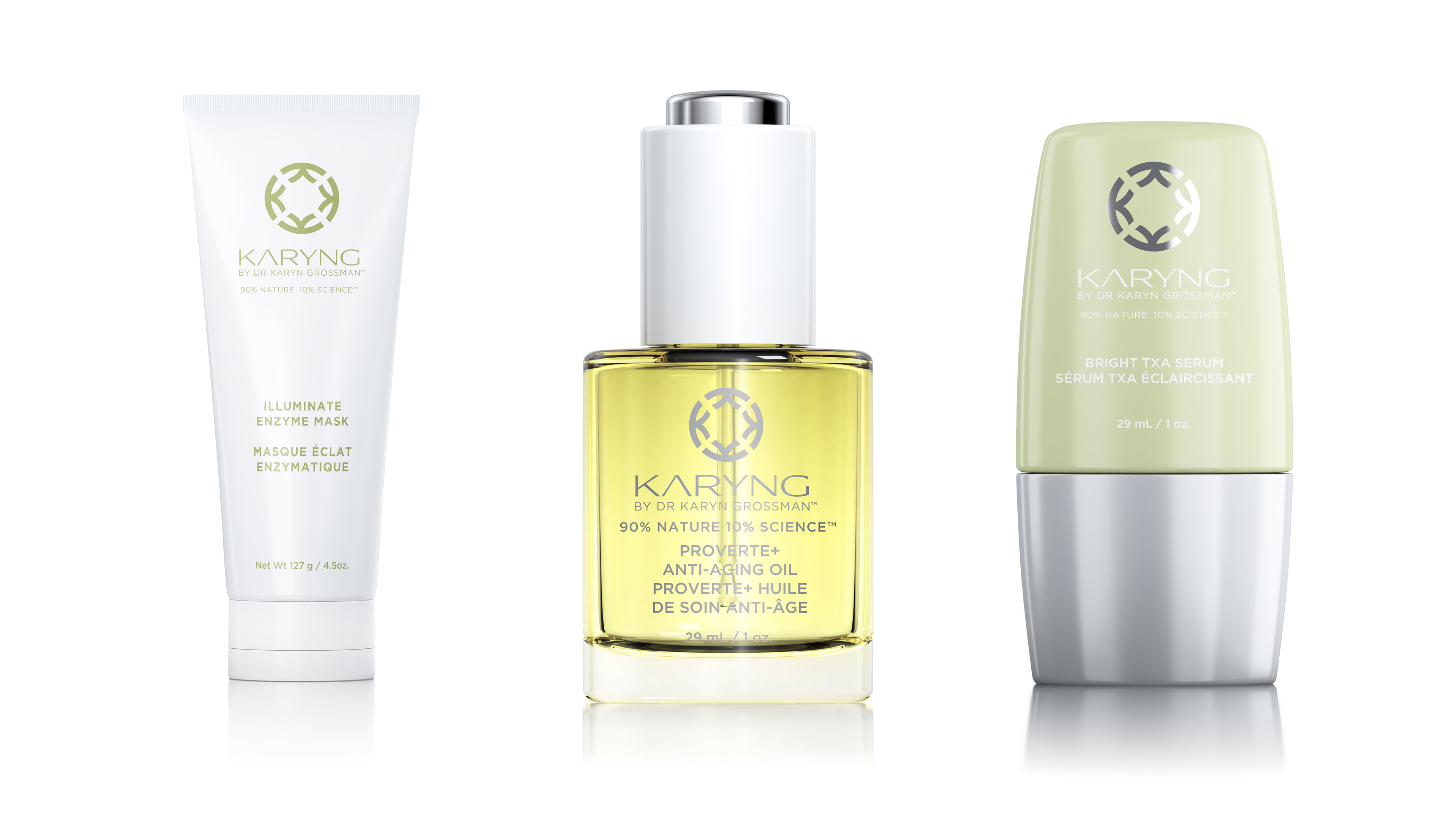 Kayng skin care enzyme mask, anti-aging oil, and serum