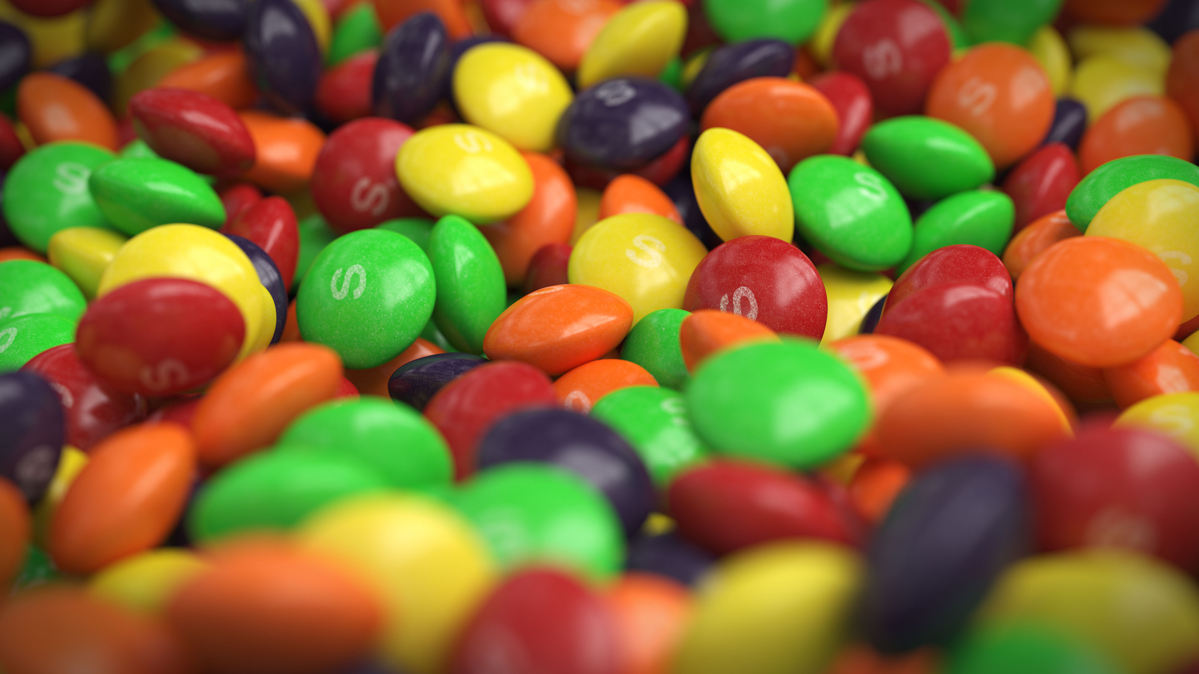 Skittles candy 3D product rendering