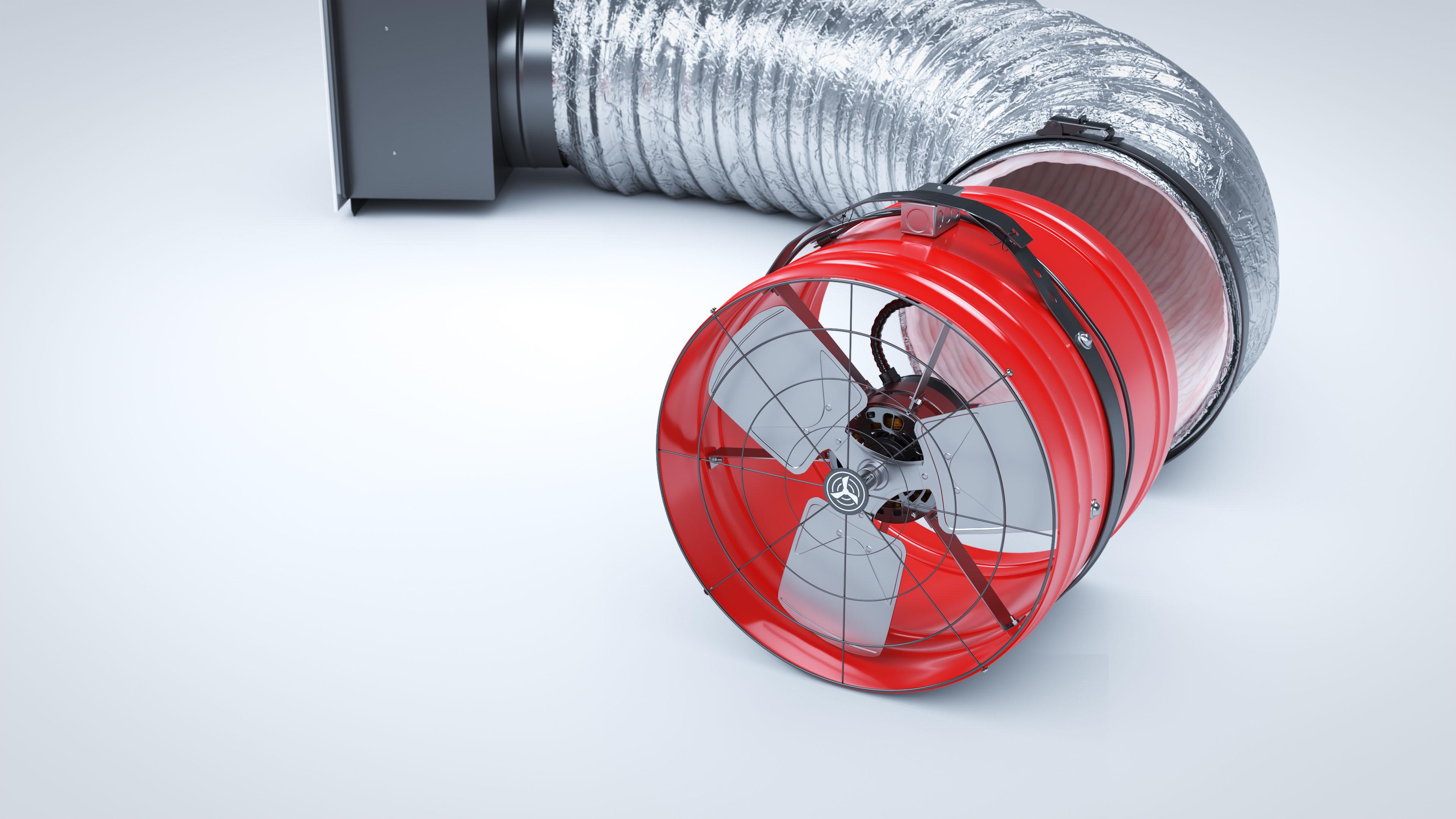 Whole House Fan System motor head break-apart