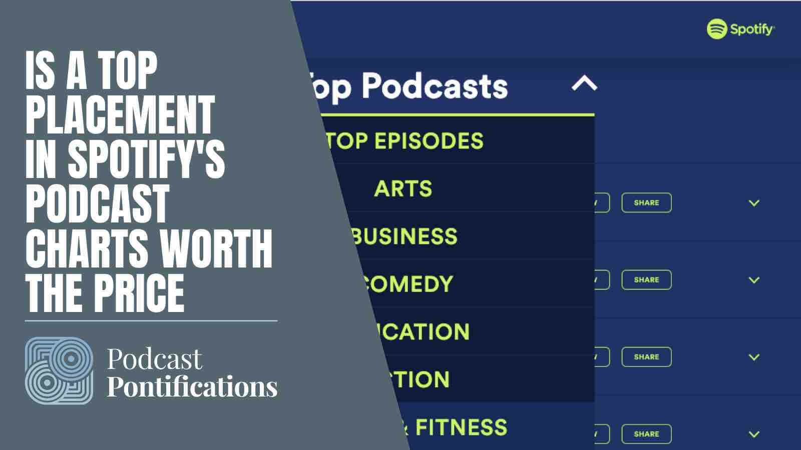 Is A Top Placement In Spotify's Podcast Charts Worth The Price?