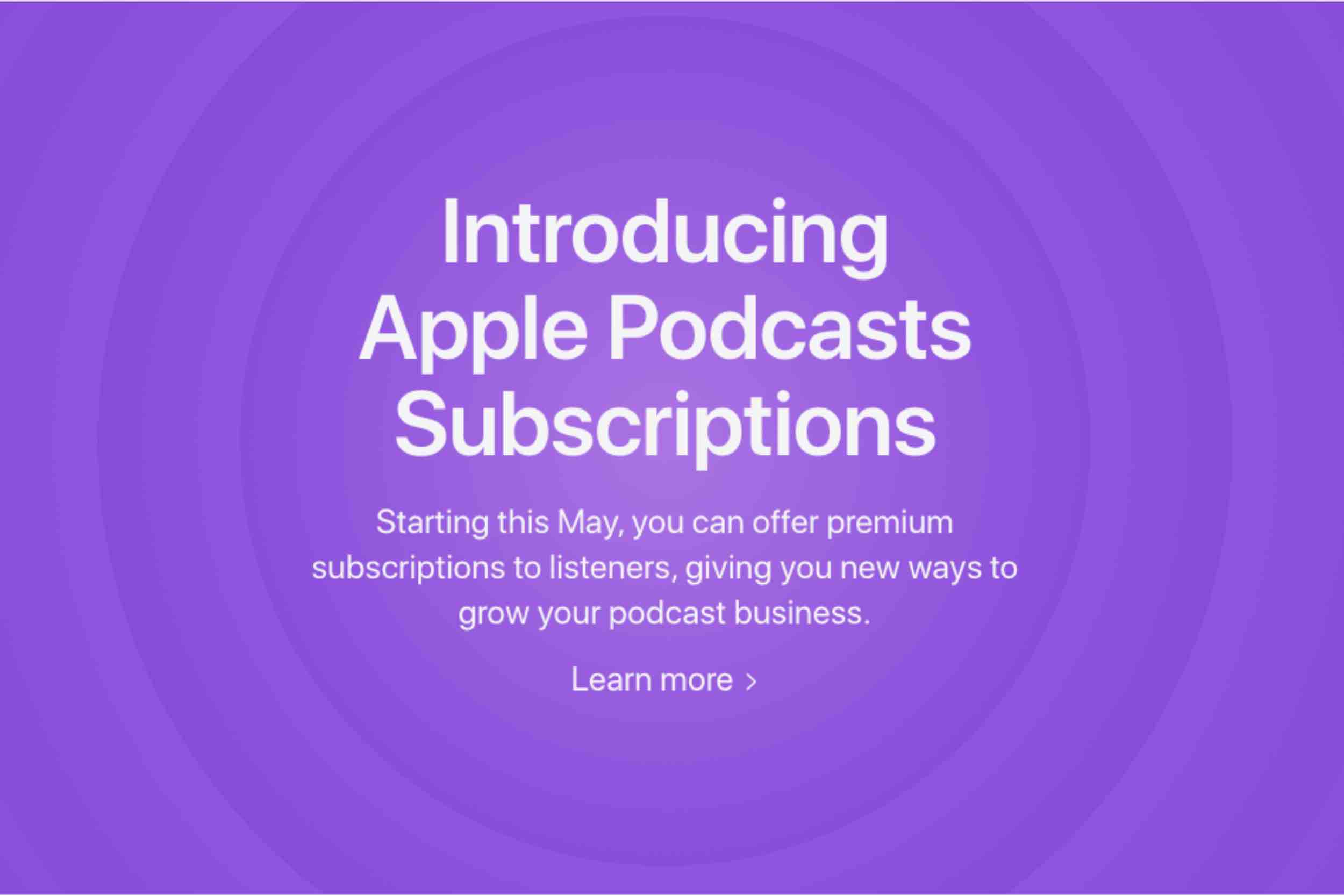 What's Apple's Motive For Apple Podcasts Subscriptions?