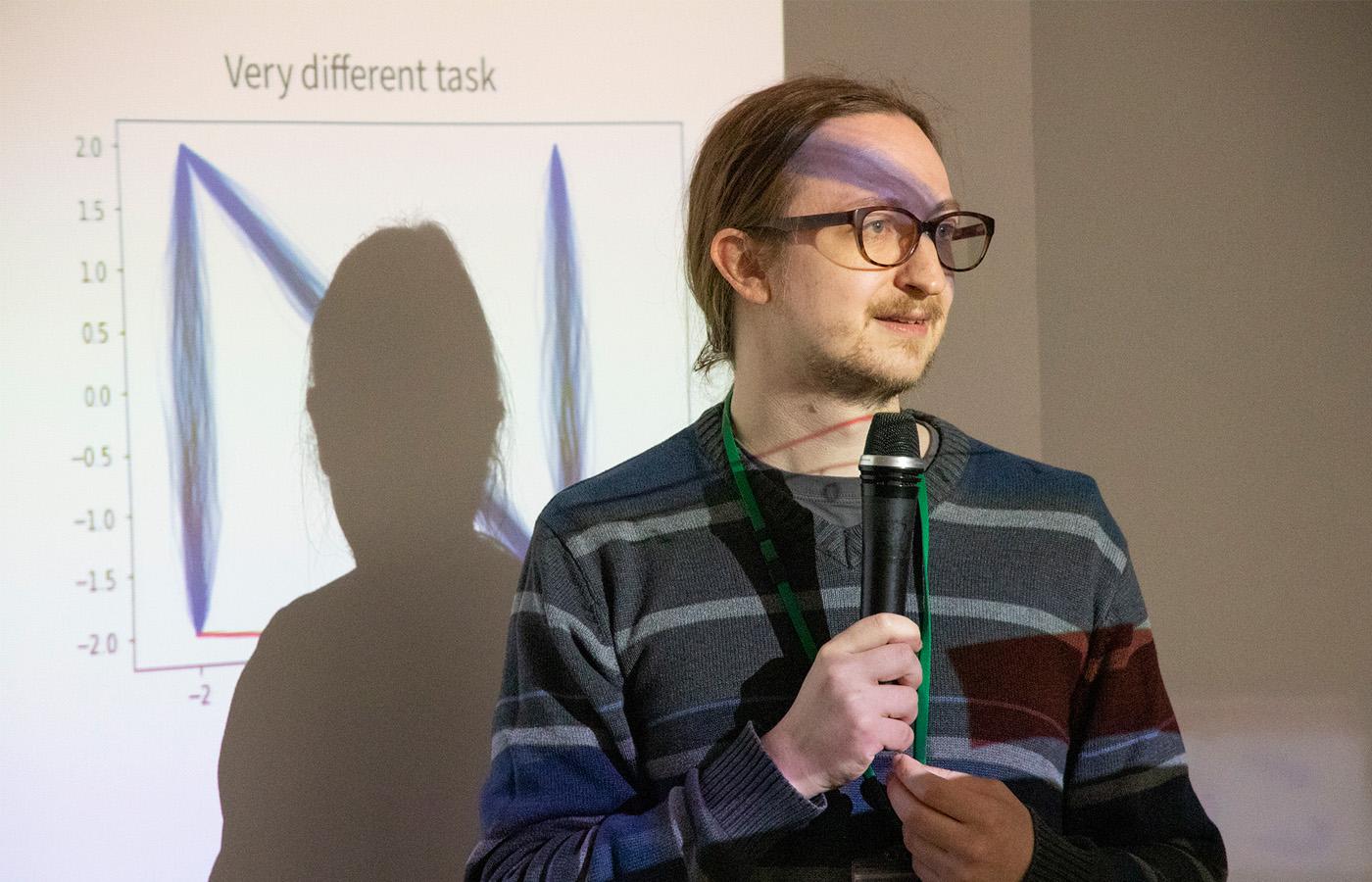 Dr. Nicholas Guttenberg presenting