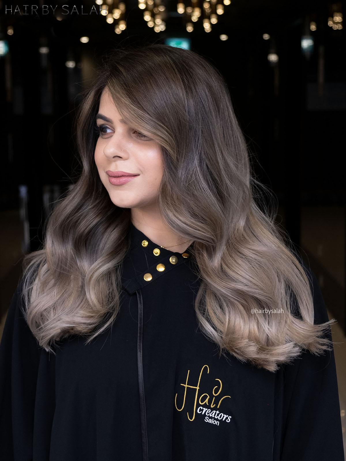 Beige Ash Balayage by Salah & Hair Creators Color Team. #ashblondehaircolor #beigeblondehair