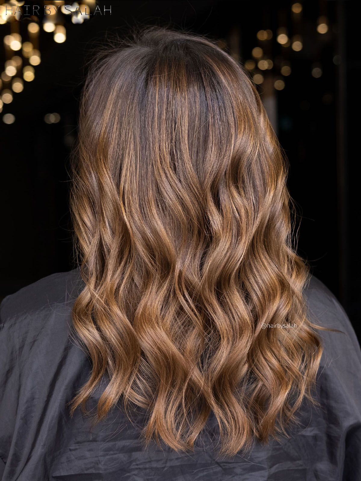 Melted Honey Brown Balayage by Salah & Hair Creators Color Team. #honeyhair #honeygoldhair #balayaged