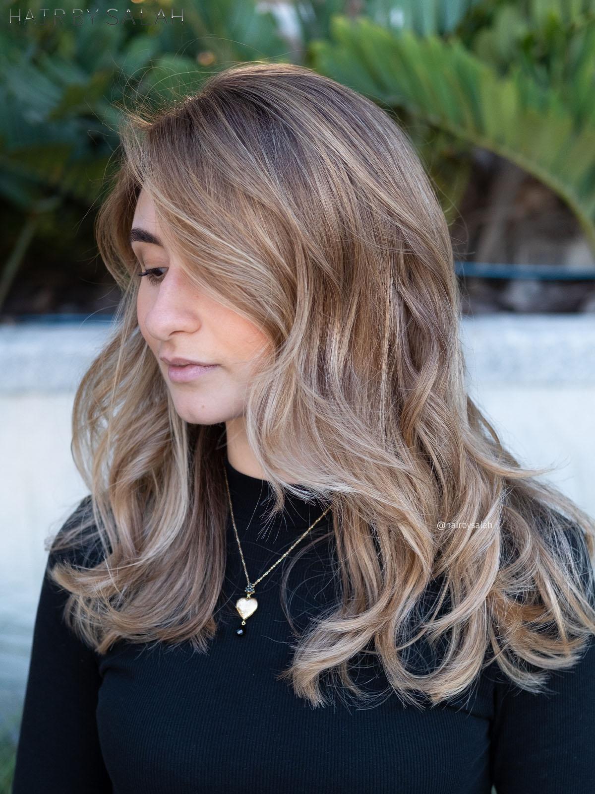 Beige Blonde Balayage by Salah & Hair Creators Color Team. #beigeblonde#beigehair#lightblonde