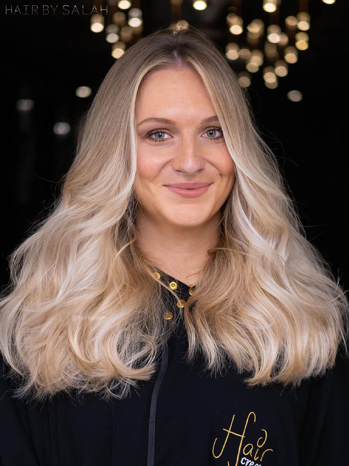 Light Beige Blonde Balayage by Salah & Hair Creators Color Team. #lightbeige#beigeblonde#beige