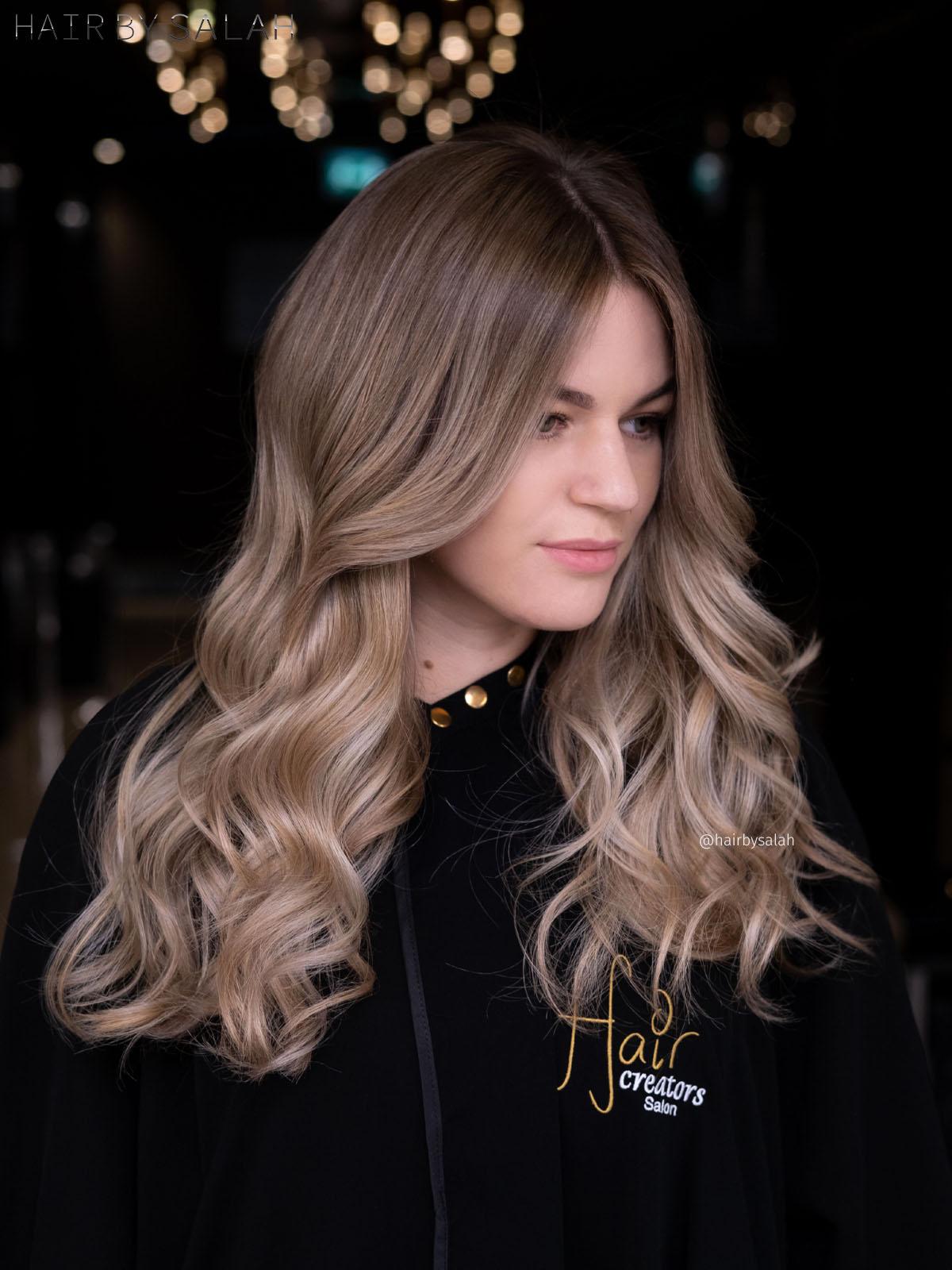 Beige Blonde Balayage by Salah & Hair Creators Color Team. #beigeblonde#beige#beigehair