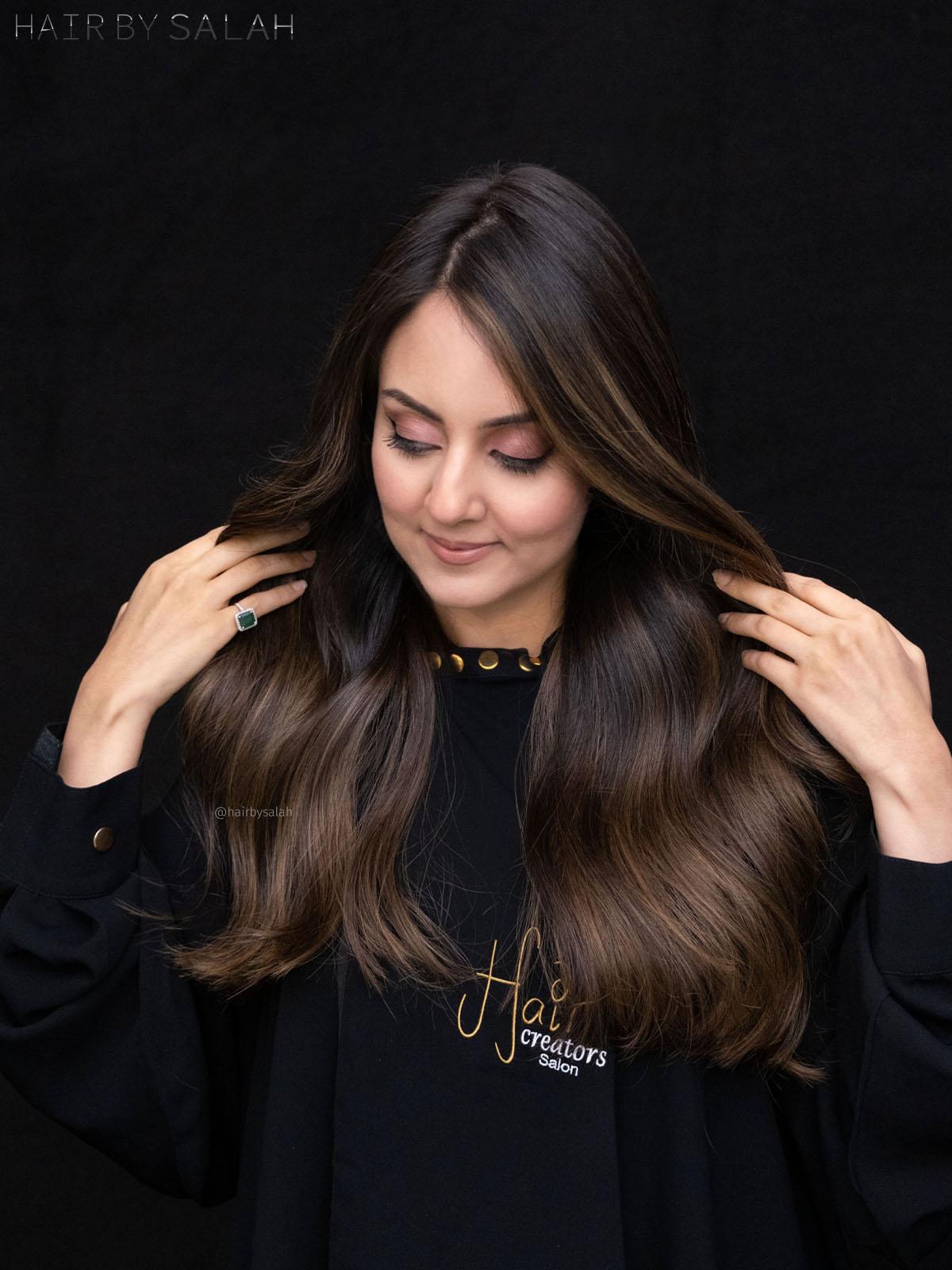 Honey Brown Balayage by Salah & Hair Creators Color Team. #honeyhair #honeybrown #balayagegoals