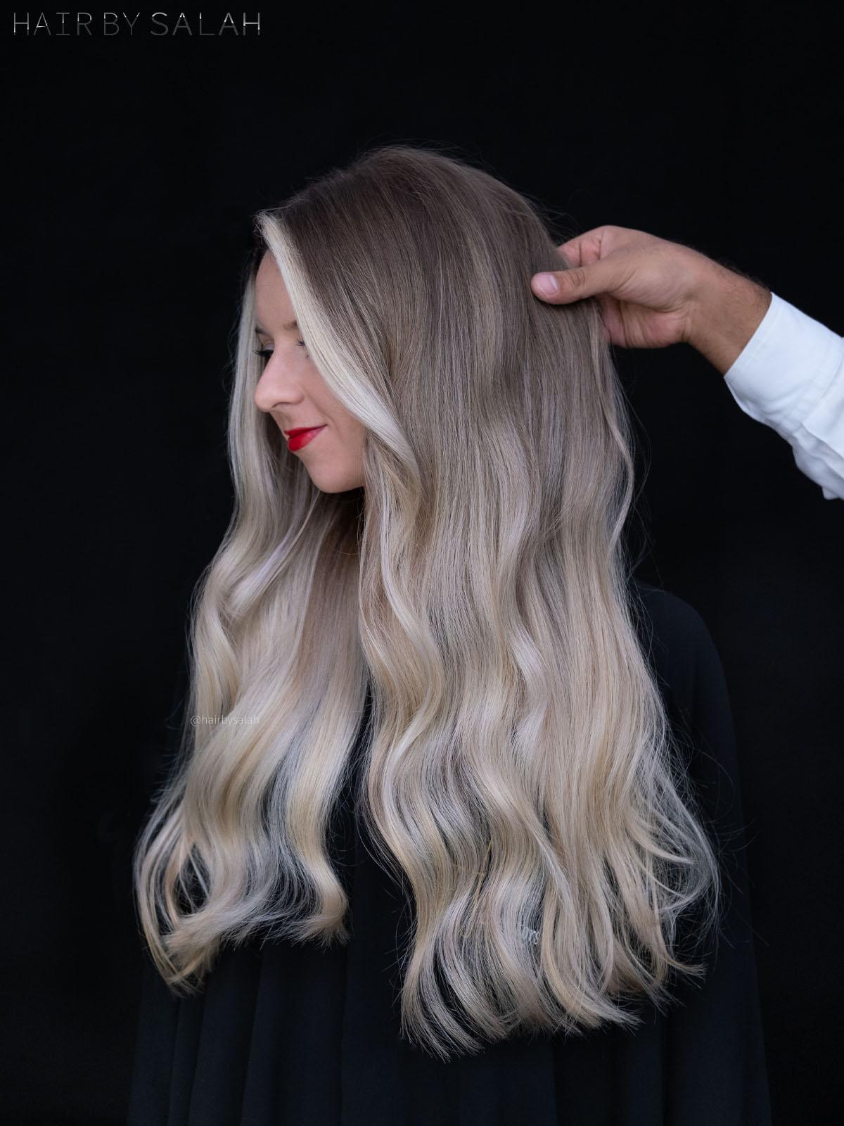 Ice Blonde Balayage by Salah & Hair Creators Color Team. #iceblondehair #iceblonde #iceblondebalayage