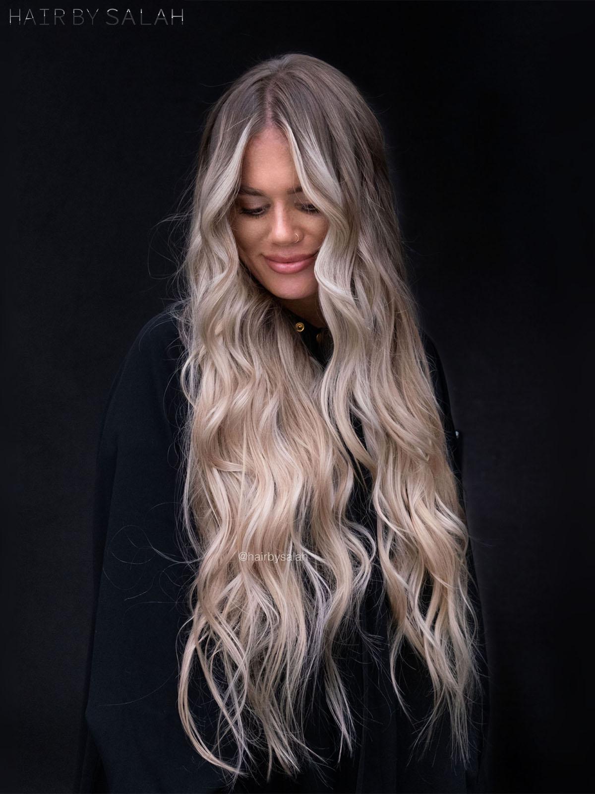 Sandy Beige Blonde Balayage by Salah & Hair Creators Color Team.