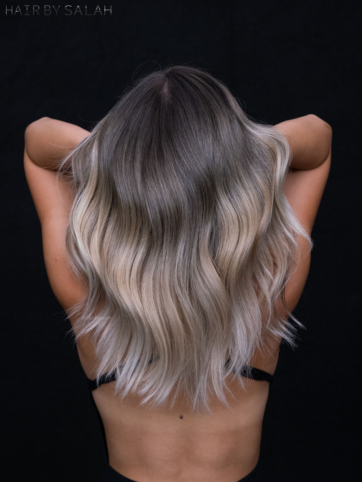 Light Beige Blonde Balayage by Salah & Hair Creators Color Team.