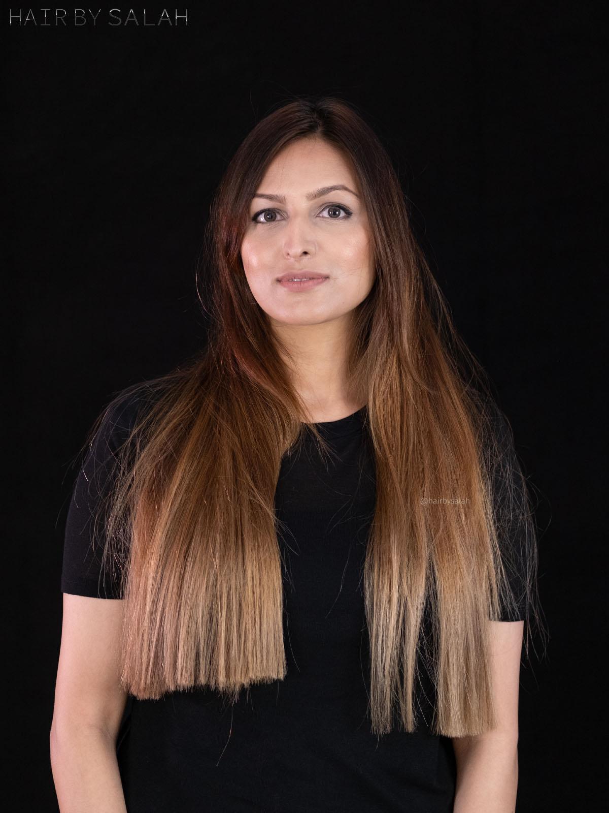 Ash Grey Balayage by Salah & Hair Creators Color Team.