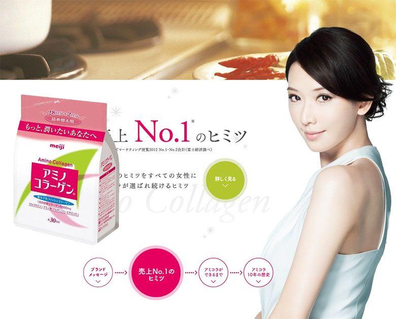 Collagen Meiji Amino dạng bột