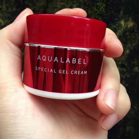 Kem dưỡng da Shiseido Aqualabel đỏ 5 trong 1