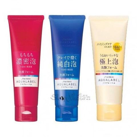 Sữa rửa mặt Aqualabel đỏ xanh vàng của Shiseido
