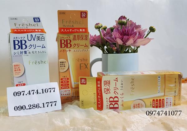 Kem trang điểm BB Cream Kanebo Freshel 5 in 1 Nhật Bản