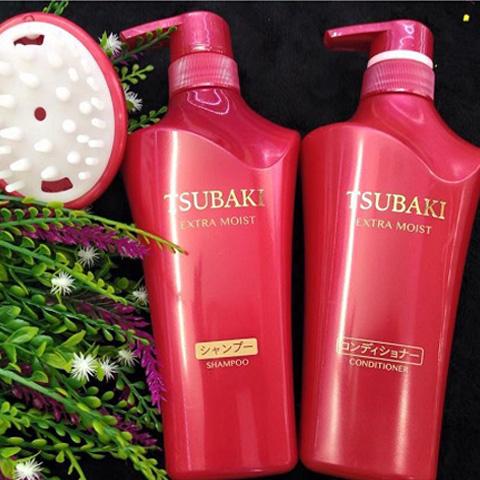 Dầu gội Tsubaki Shiseido màu đỏ