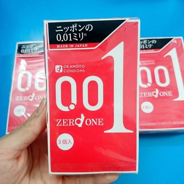 Bao cao su Okamoto 0.01 siêu mỏng