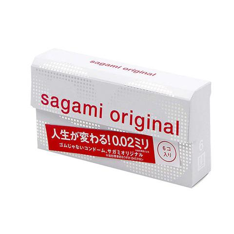 Bao cao su siêu mỏng Sagami Original 0.02 hộp 6 cái