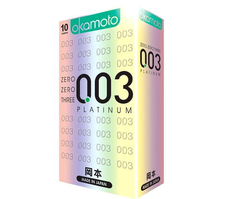 Bao cao su Okamoto 003 Platinum