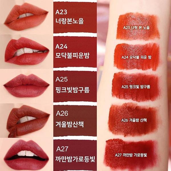 Bảng màu son Black Rouge Air Fit Velvet
