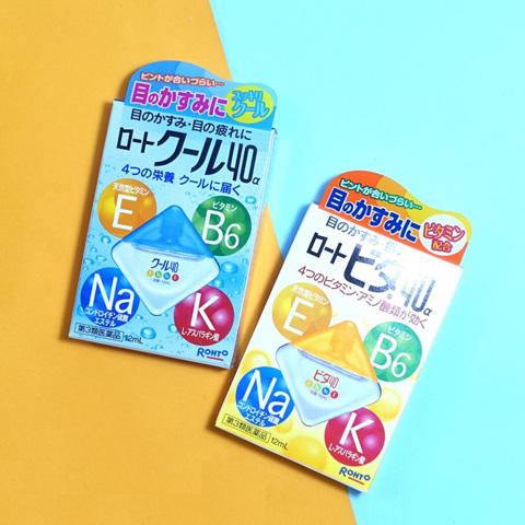 Thuốc nhỏ mắt Rohto Nhật Bản Vita 40 bổ sung vitamin