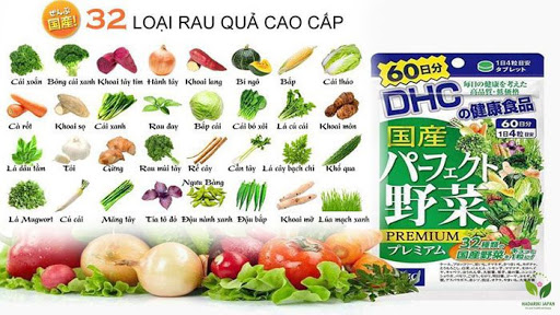 DHC rau củ - viên Uống Rau Củ DHC Nhật Bản Perfect Vegetable Premium